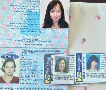Passport, Old License, New License